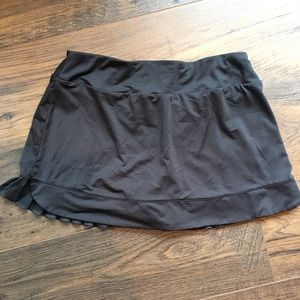Fila Black Skort with Ruffle back attached shorts